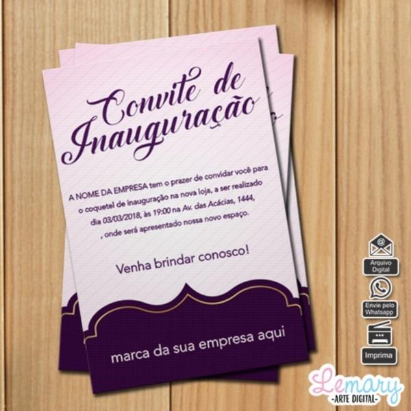 Convite digital inauguração mod 002 no elo7