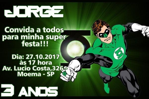 Convite Digital Lanterna Verde No Elo7