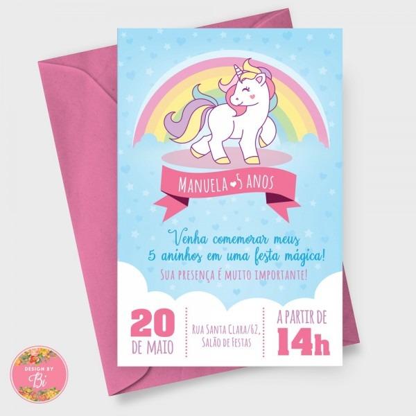 Convite Unicrnio  Next  Imagem Usada Para Produzir O Convite
