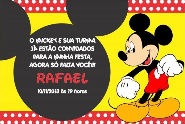 Convite Digital Virtual Whatsapp Email Facebook Mickey No Elo7