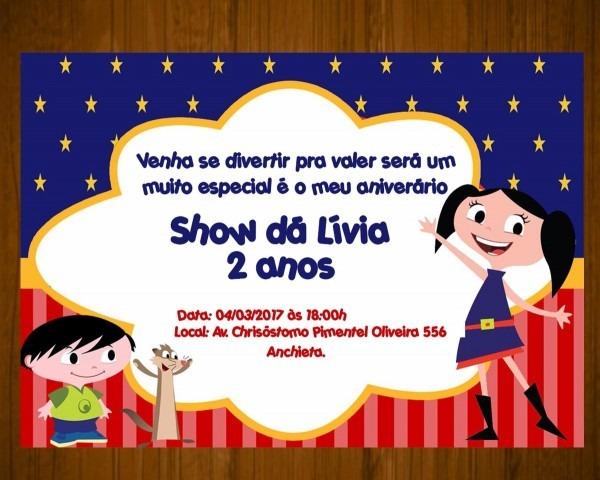 Convite digital virtual whatsapp personalizado show da luna
