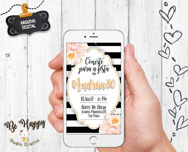 Convite digital festa 30 anos no elo7