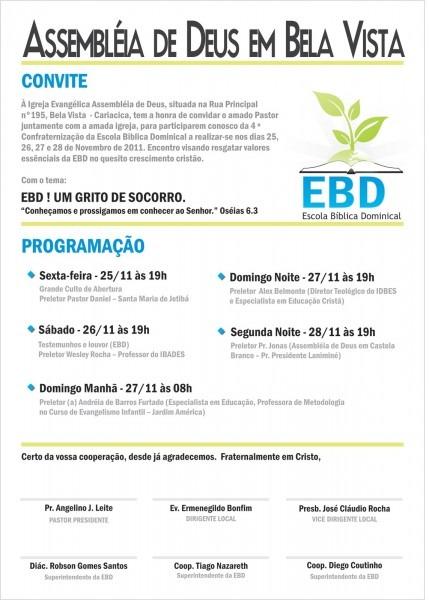ConfraternizaÇÃo Da Ebd 2011 – Bela Vista – Cariacica   Es