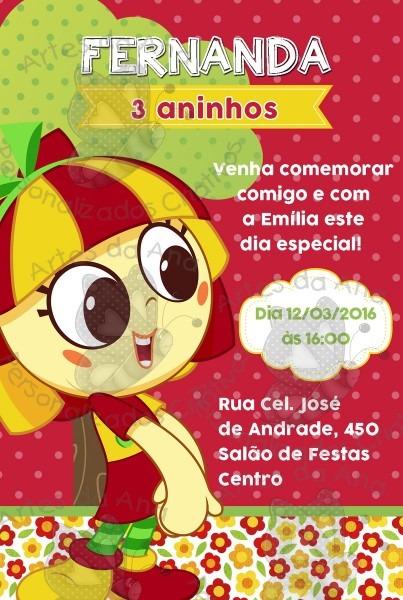 Convite emília sítio do picapau amarelo no elo7
