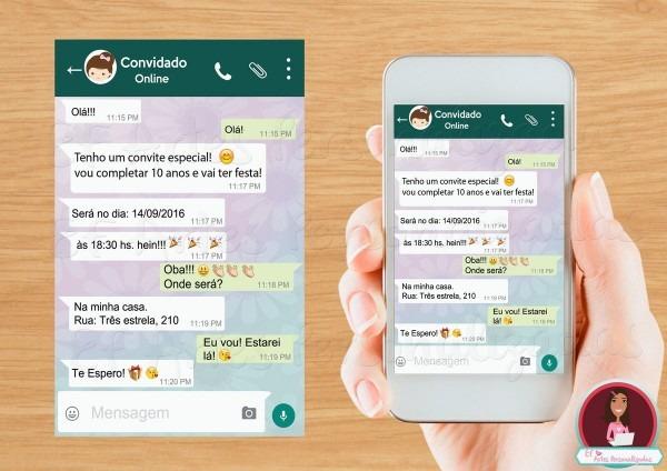 Convite emoji whatsapp