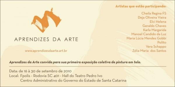 Blog do site aprendizes da arte  convite para exposição aprendizes