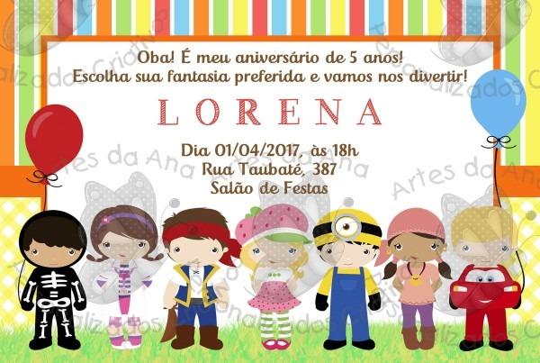Convite Festa A Fantasia No Elo7