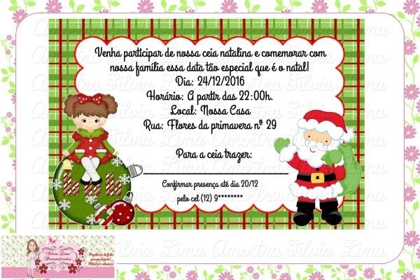 Convite festa de natal no elo7