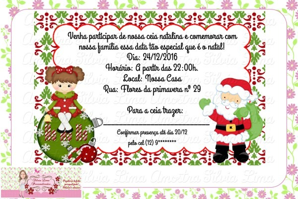 Convite de festa de natal