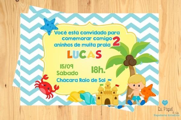 Convite Festa Infantil Digital