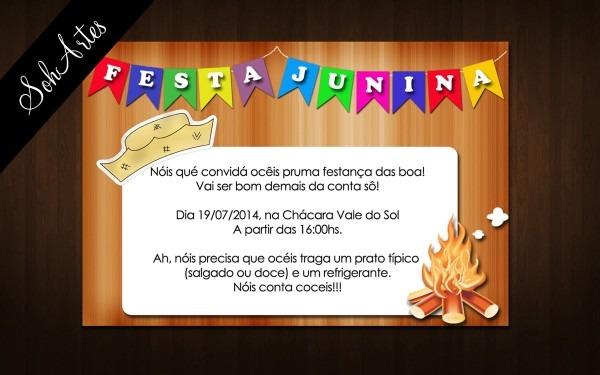 Convite festa junina no elo7