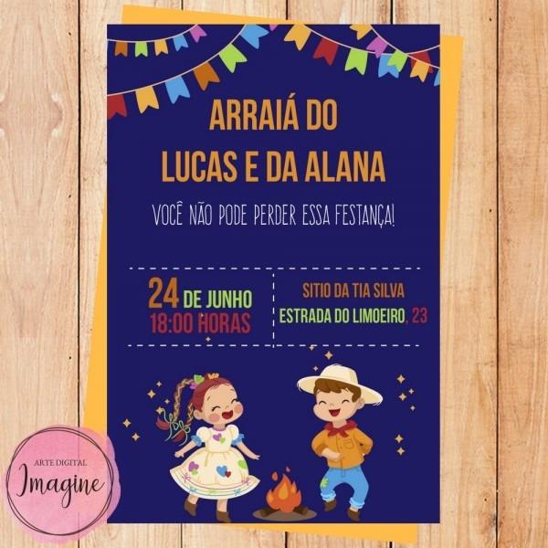 Convite festa junina para facebook e whatsapp
