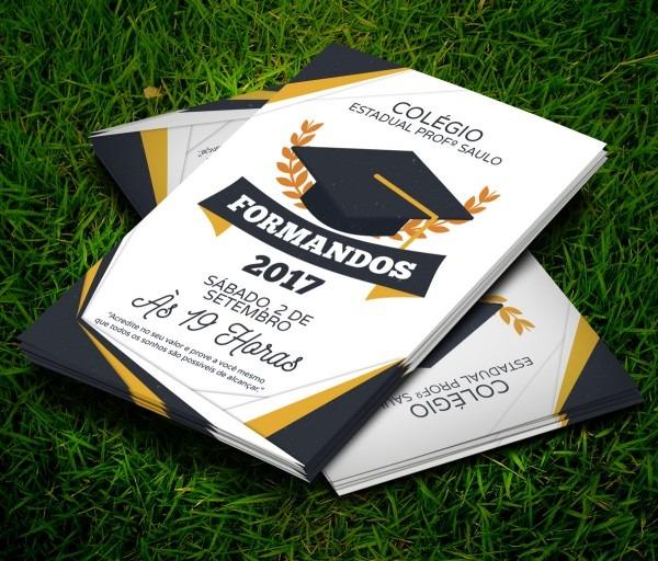 Convite Formatura Formandos 10x7cm No Elo7