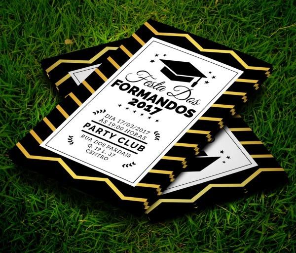 Convite Formatura Formandos 21x15 C  Env No Elo7