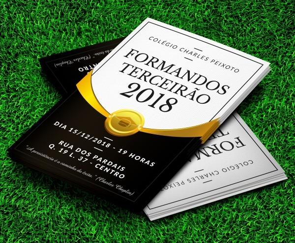 Convite formatura formandos golden 10x15cm com envelope no elo7