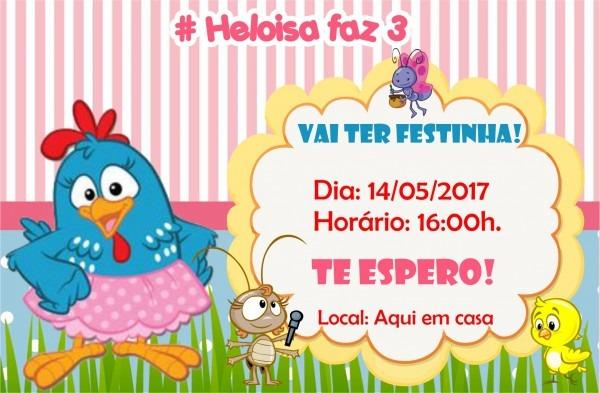 Convites galinha pintadinha digital