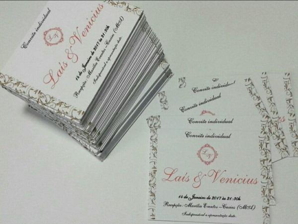 Convite Individual Para Casamento No Elo7