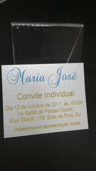 Convite Individual Simples No Elo7