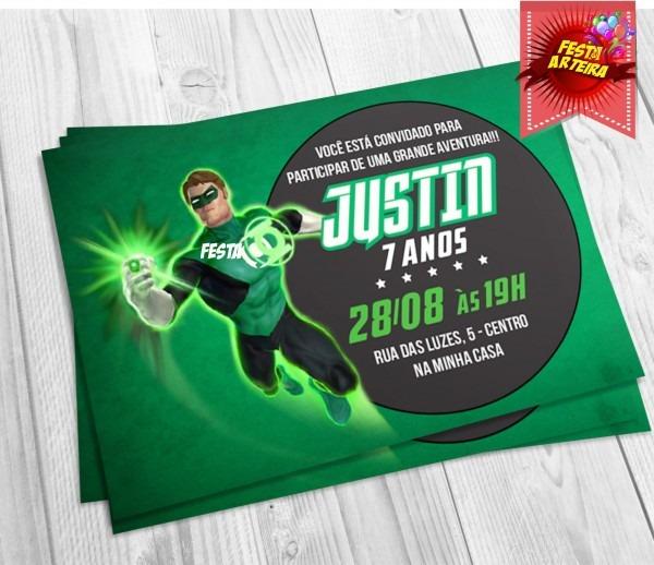 Convite Ingresso Lanterna Verde