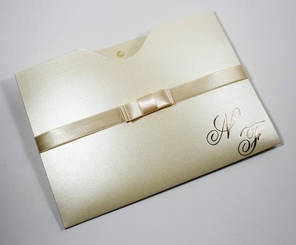 Convite lins   papel perolado no elo7