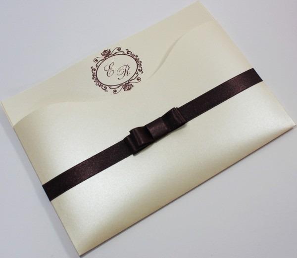 Convite luxer slim  papel perolado no elo7