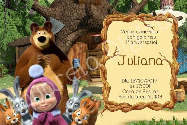 Convite masha eo urso