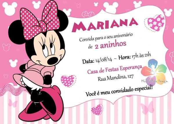 Convite minnei rosa