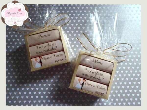 Convite Padrinhos (caixa Chocolate) 20 Unid No Elo7