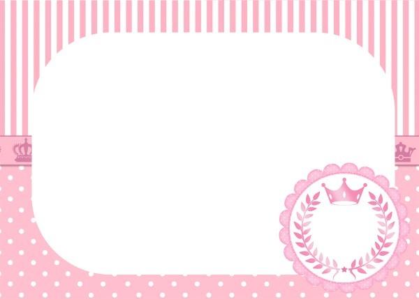 Convite para festa realeza rosa 2