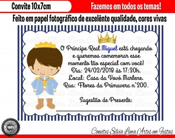 Convite pequeno príncipe chá de bebê no elo7