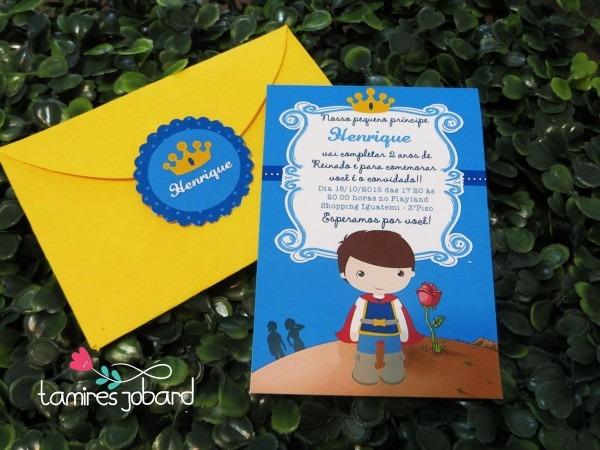 Convite pequeno príncipe moreno no elo7