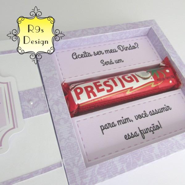 Convite Prestígio Padrinhos No Elo7