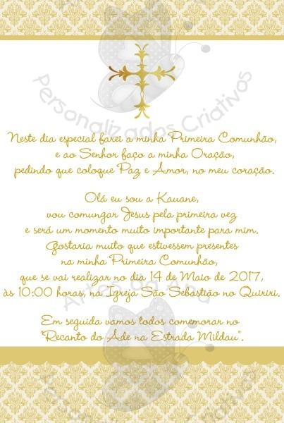 Convite primeira comunhão no elo7