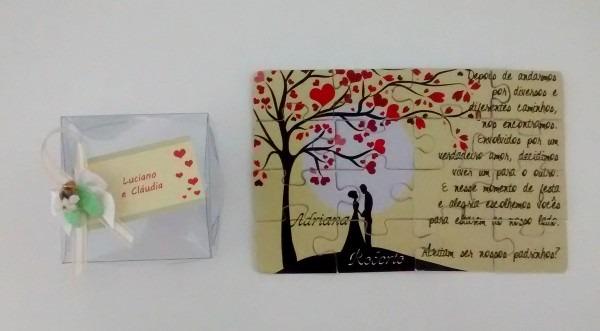 Convite padrinhos casamento Árvore com coraÇÃo