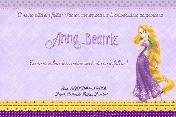Rapunzel convite digital