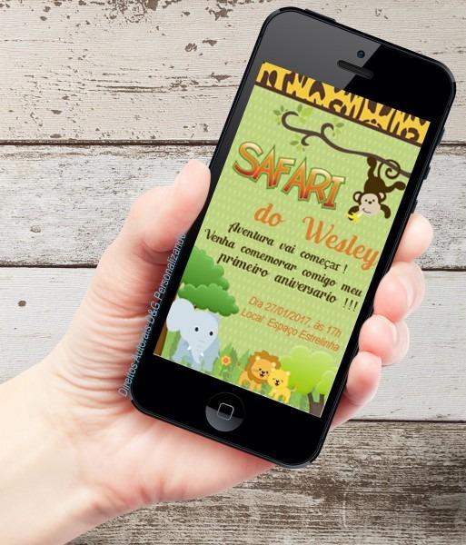 Convite whatsapp safari em sp