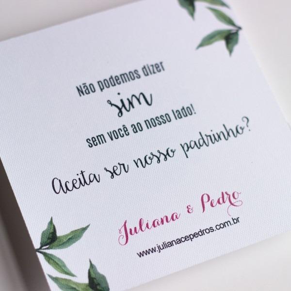 Convite simples bob esponja em casamento
