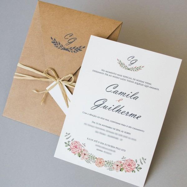 Convites de casamento aquarela – guilherme