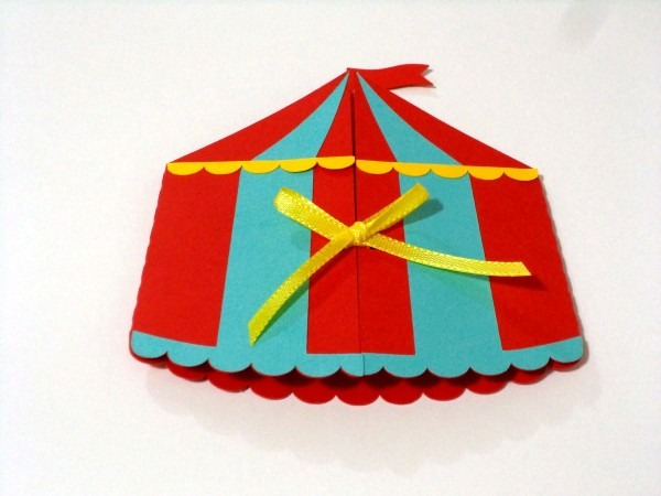 Convite tenda de circo no elo7