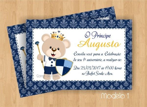 Convite pricipe azul