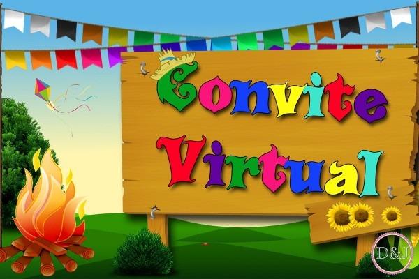Convite virtual arraiá festa junina juli no elo7