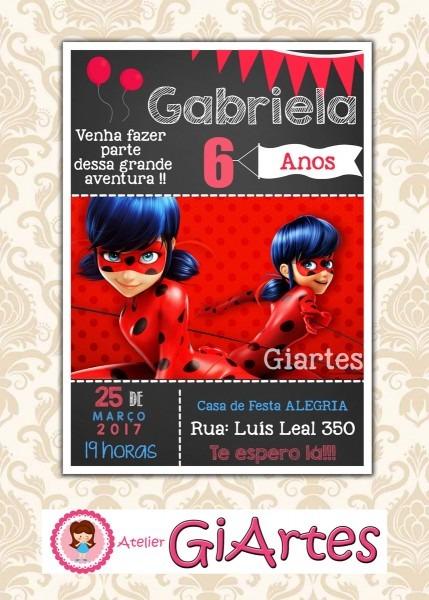 Convite Virtual Miraculous Ladybug No Elo7