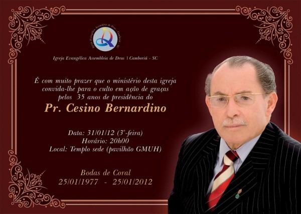 Igreja evangélica assembleia de deus em maracajá  convite culto