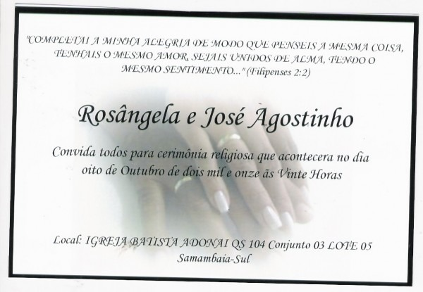 Casais adonai  noivado de josÉ agostinho e rosÂngela