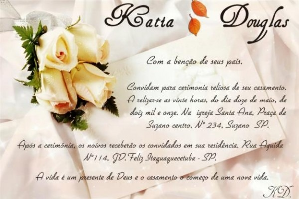 Convite casamento salvador