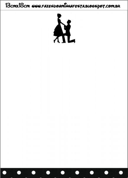Convites de noivado com envelope prontos para imprimir!