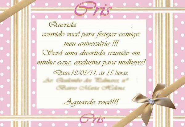 Festejar!!!  uma festa bem feminina para cris