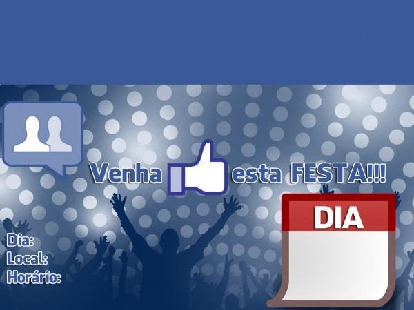 Convite Festabook  Convite Para Festa Estilo Facebook