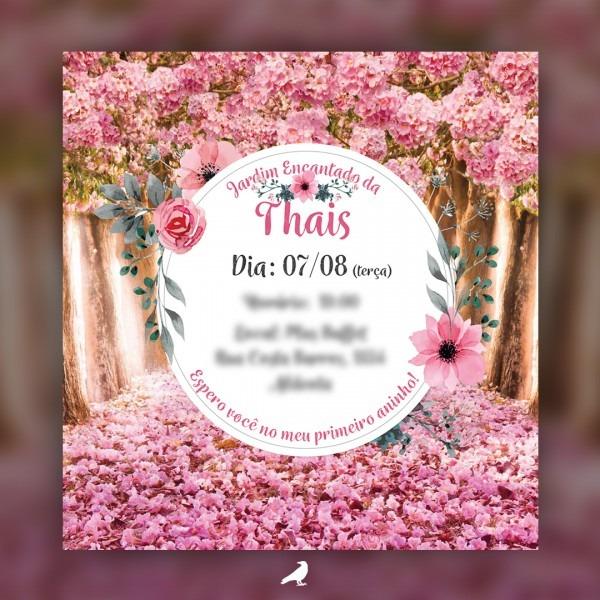 Convite Jardim Encantado Thais