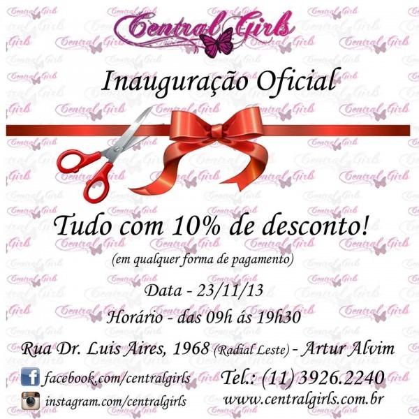 Central Girls Inaugura Nova Loja